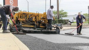 Asphalt installation for new parking lot in Copiague New York