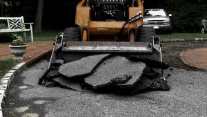 Blacktop Driveway Construction Excavation in Wyandanch New York