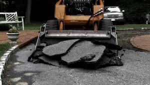 Blacktop Driveway Construction Excavation in Wyandanch New York