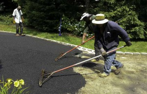 Blacktop Driveway Extension Asphalt Installation in Huntington, New York