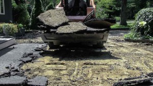 Blacktop Driveway Extension Excavation in Cold Spring Harbor, New York