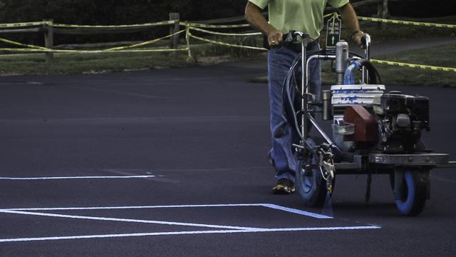 Parking Lot Re-stripe in West Islip New York