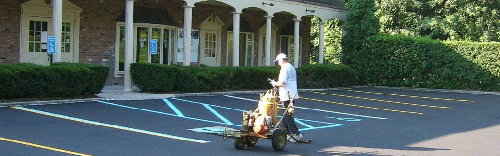 Pavement marking in Hauppauge New York