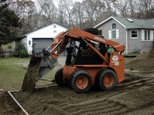blacktop driveway grading Port Jefferson, Suffolk New York.