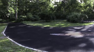 blacktop driveway new asphalt installation Lake Grove, Suffolk New York.