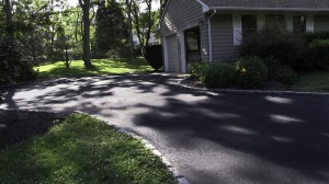 blacktop driveway new asphalt installation Shoreham, Suffolk New York.