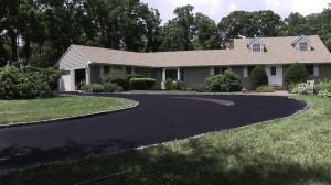 blacktop driveway new asphalt installation Stony Brook, Suffolk New York.