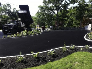 blacktop driveway new installation Babylon, Suffolk New York.