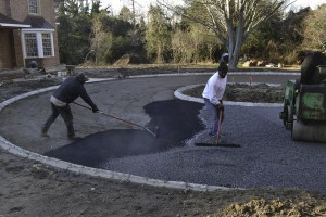 gravel and stone driveway installation Melville, Suffolk New York.