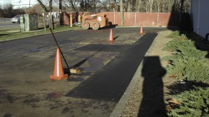 Parking Lot Asphalt Repair East Islip, Suffolk, New York.